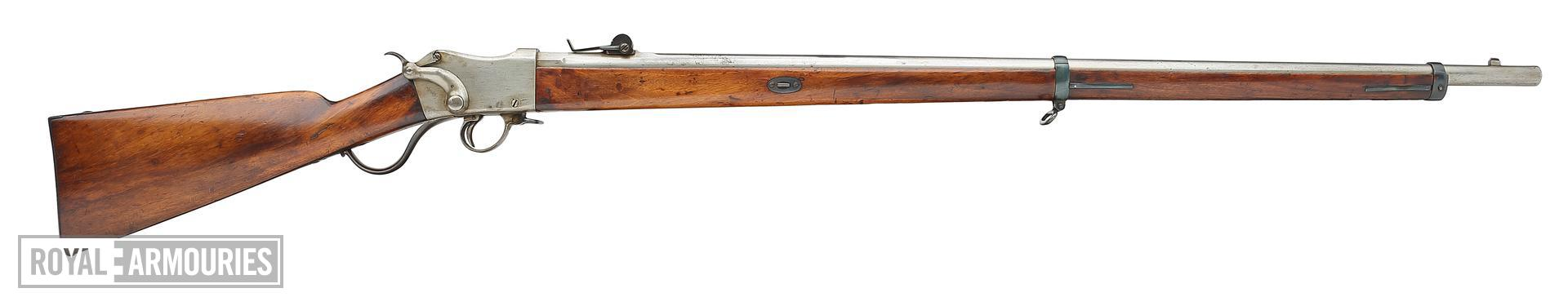 Rimfire breech-loading rifle - Experimental Martini