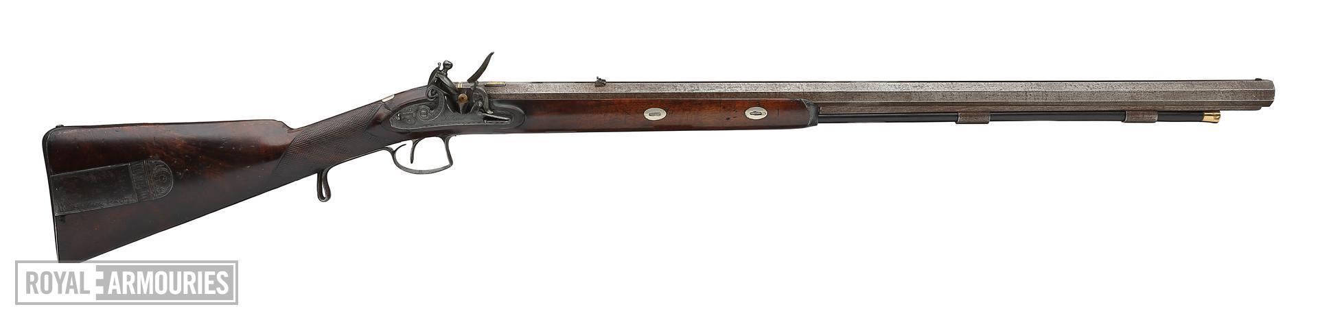 Flintlock muzzle-loading presentation rifle - By Tatham, Sealed Pattern