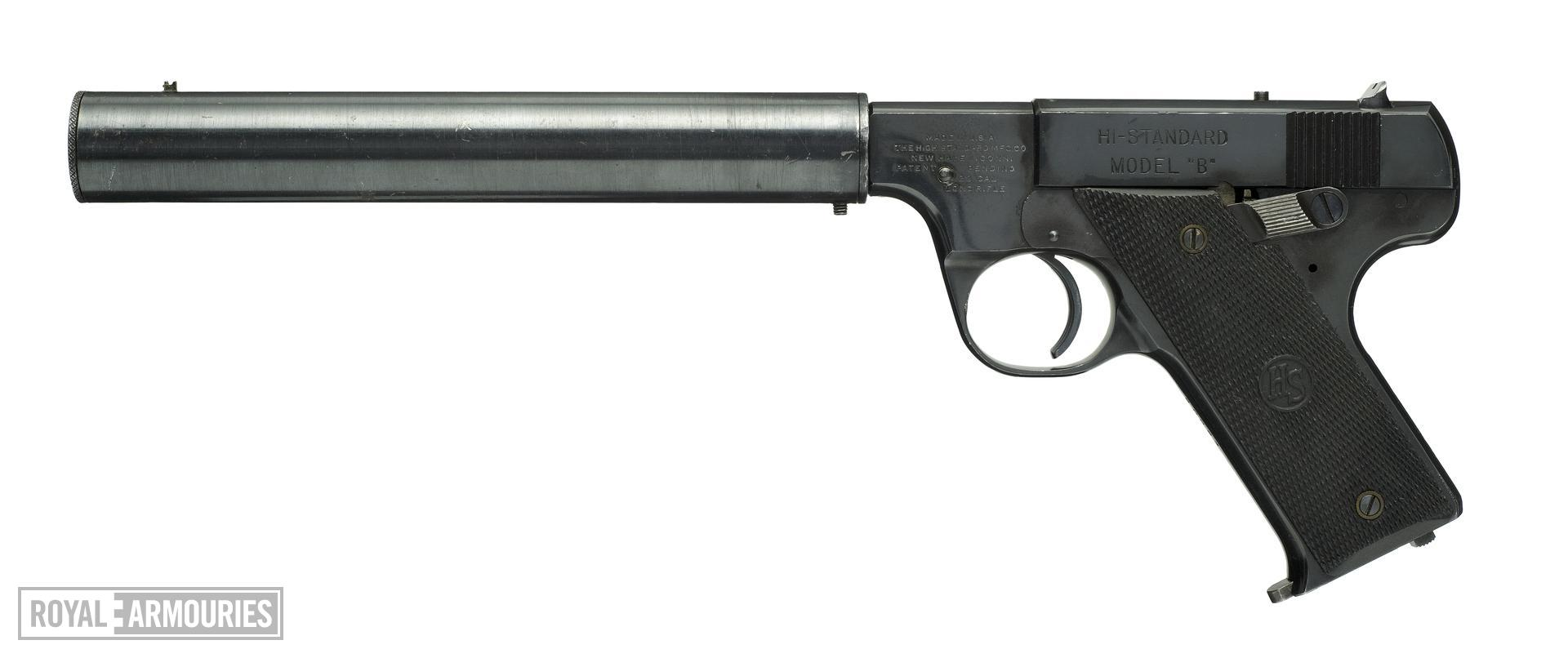 Rimfire self-loading silenced pistol - Hi-Standard Model B