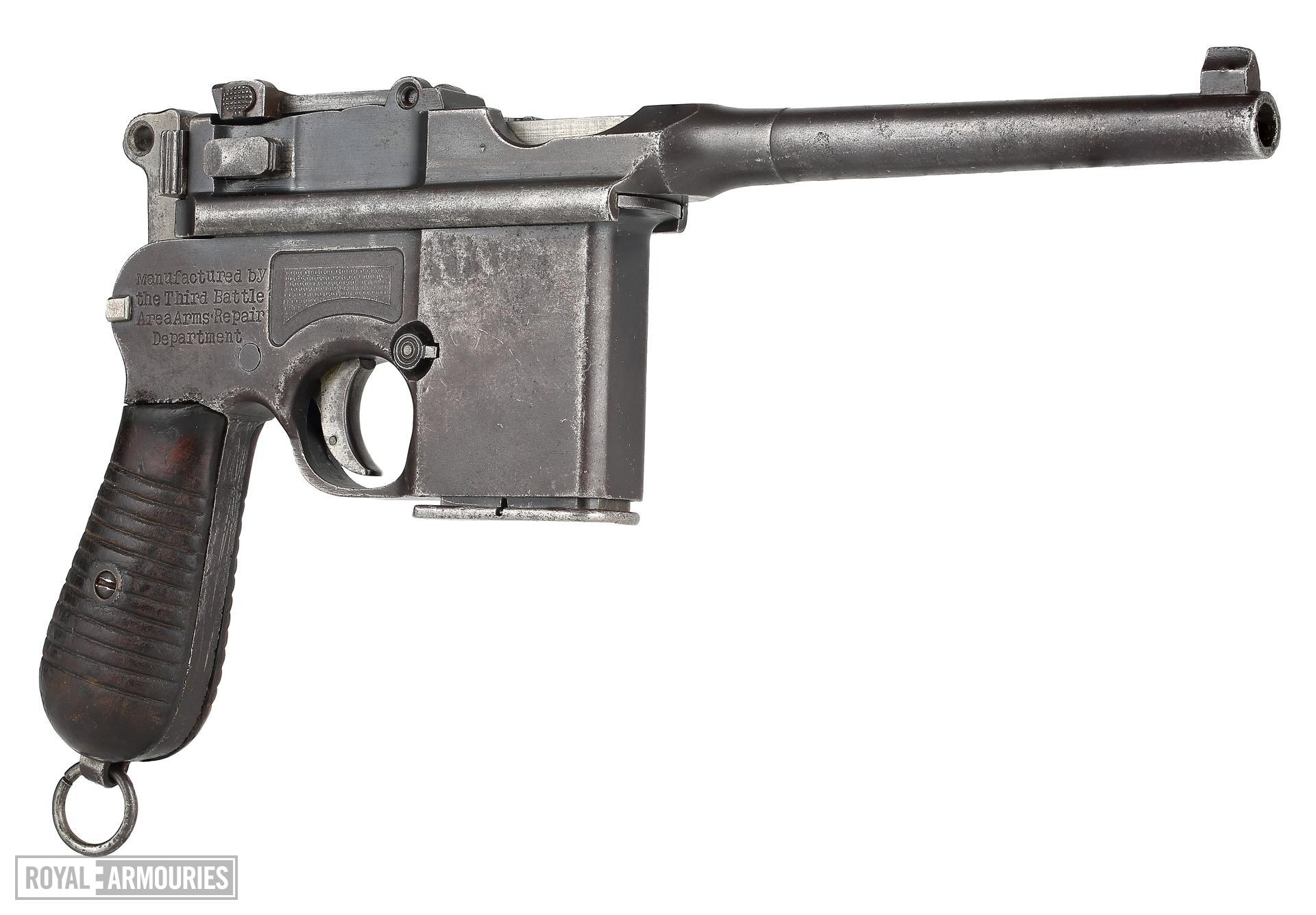 Centrefire automatic pistol - Mauser C96 Model 712 Schnellfeuer Chinese copy