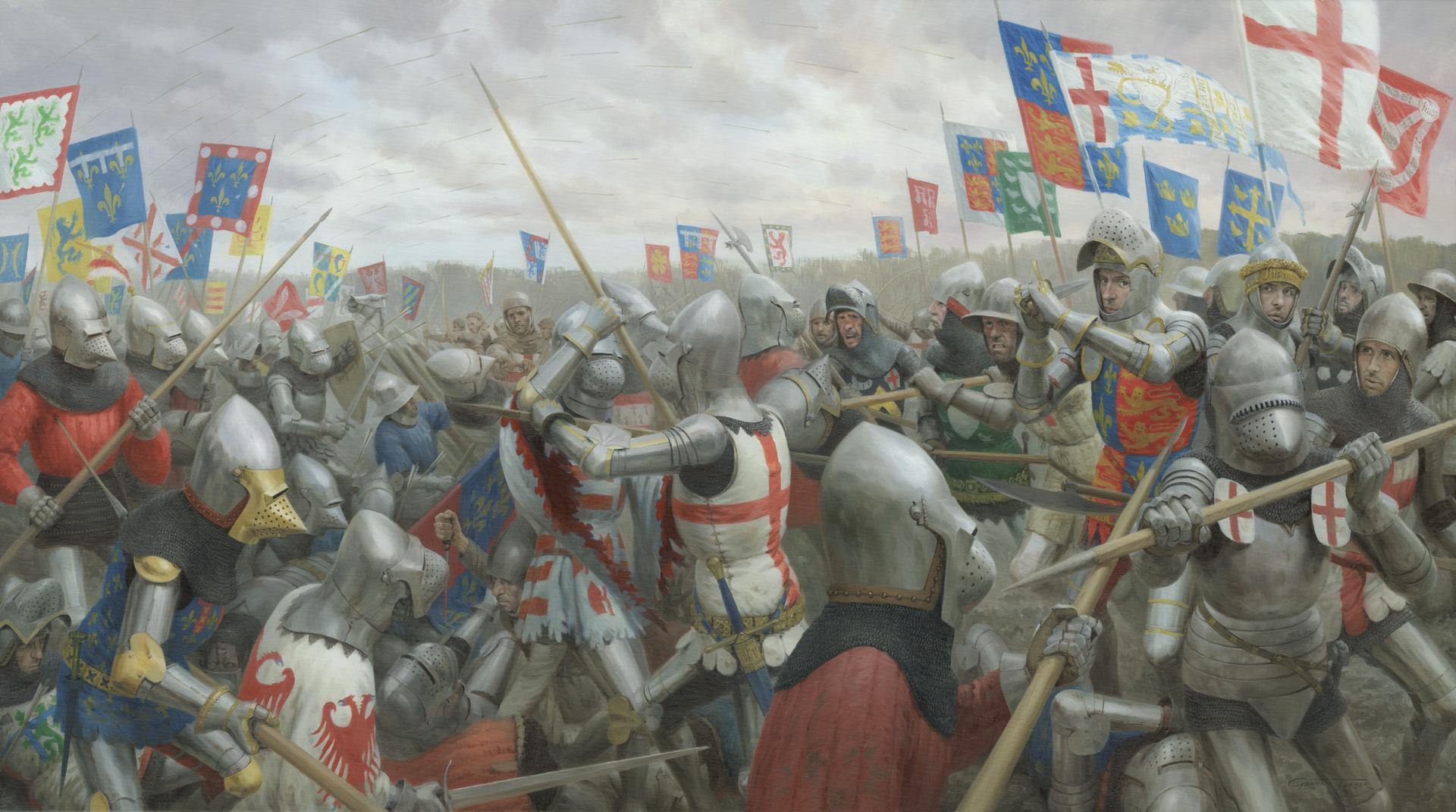 Painting - The Battle of Agincourt