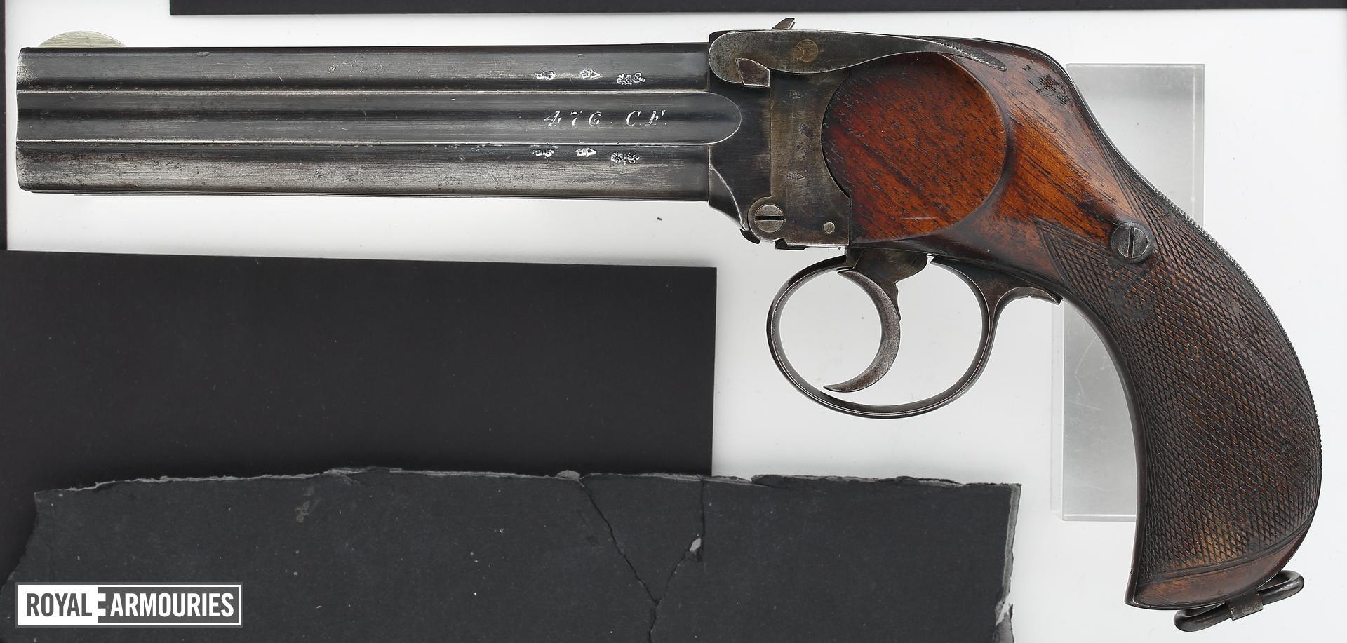 Centrefire four-barrelled pistol - Lancaster Large Frame Holster Model