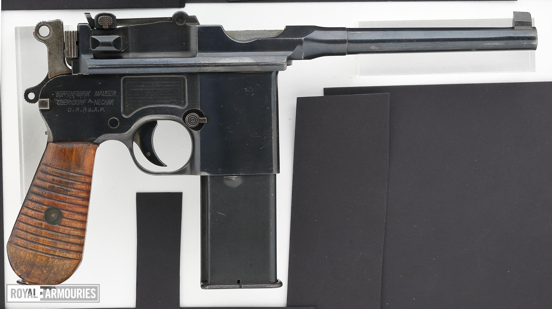 Centrefire automatic pistol - Mauser C96 Model 712 Schnellfeuer