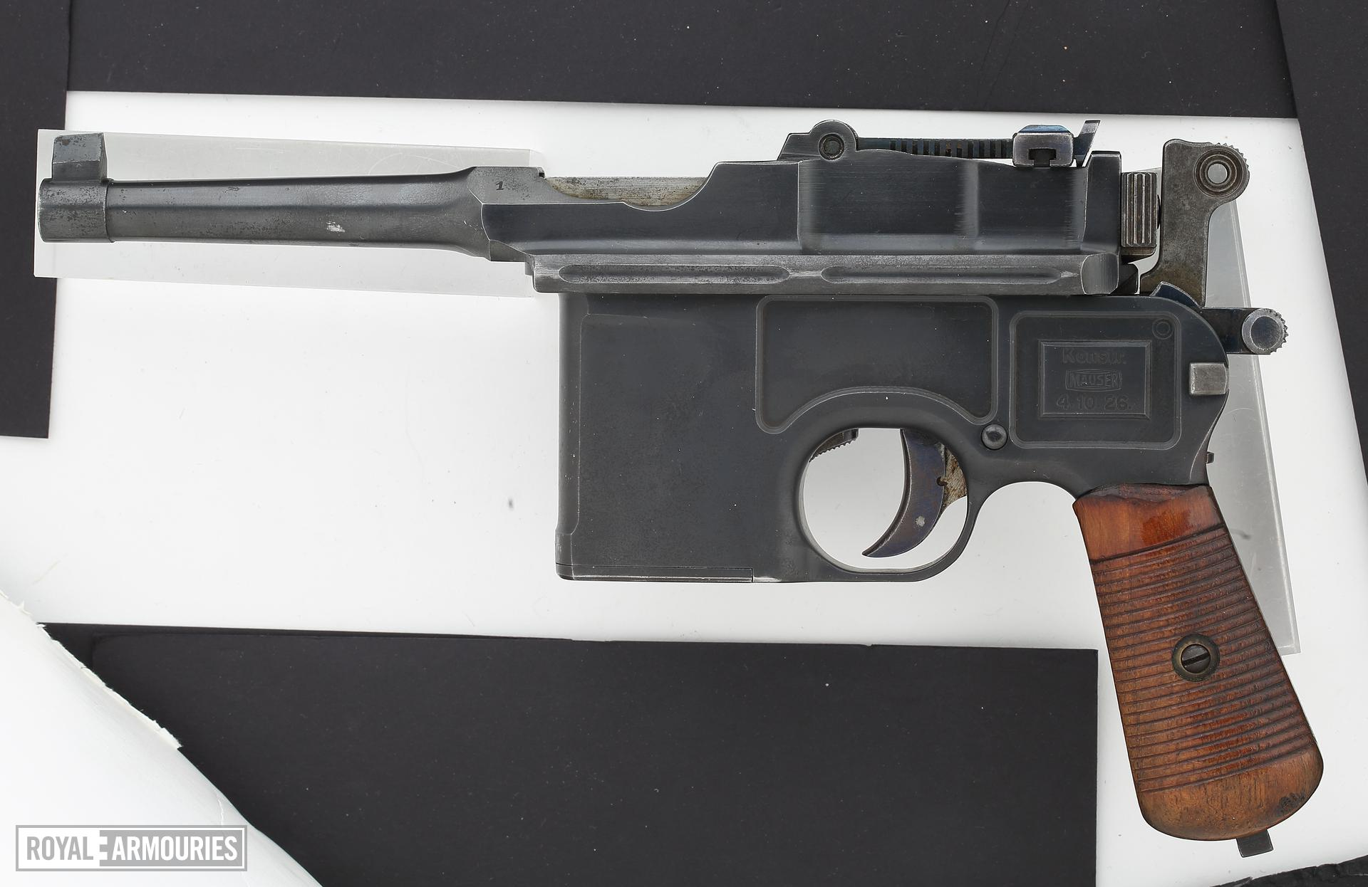 Centrefire automatic pistol - Mauser C96 Schnellfeuer fully-automatic prototype