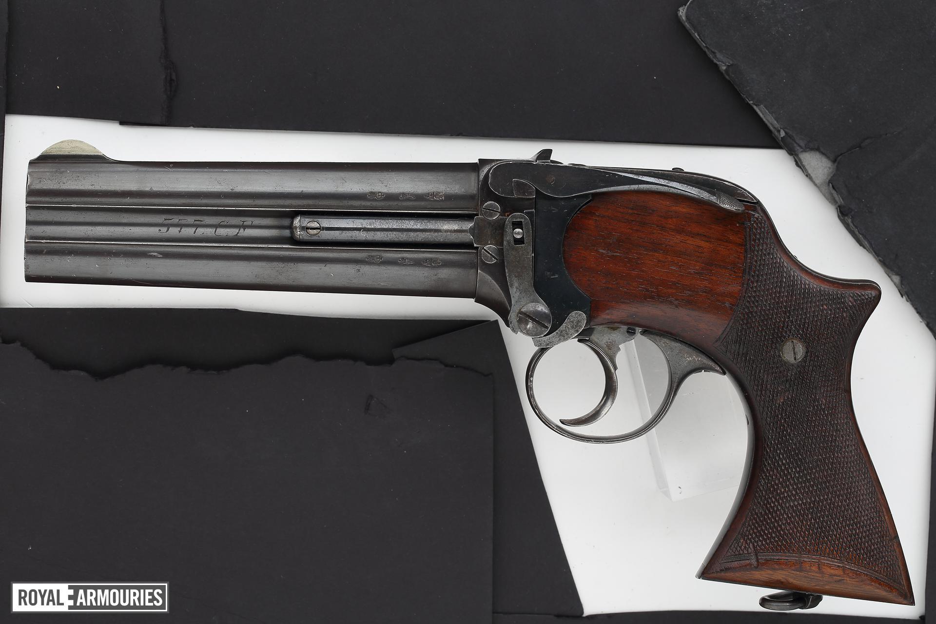 Centrefire double-barrelled pistol - Lancaster Large Frame Holster Model