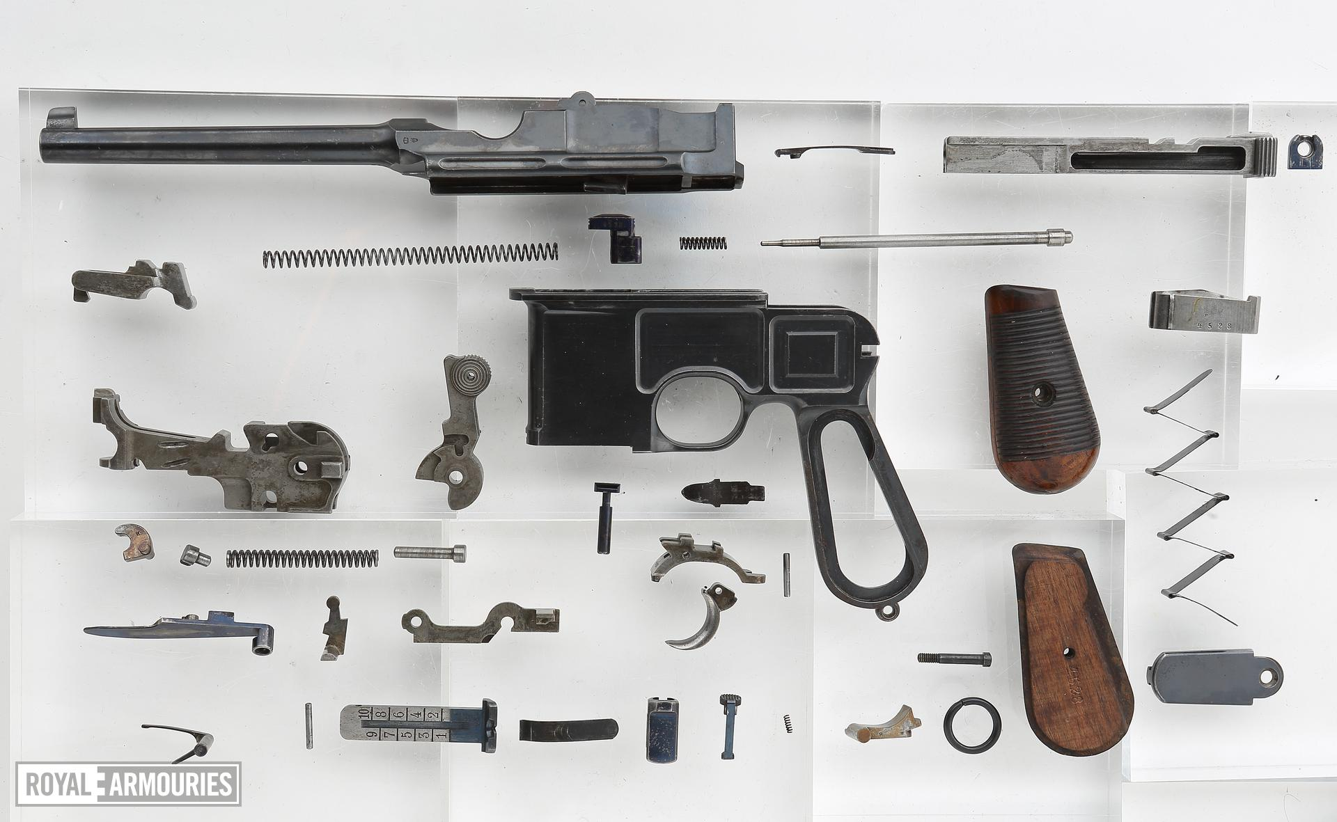 Mauser Model C96 centrefire self loading pistol with cone hammer and holster stock, Germany