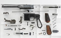 Thumbnail image of Mauser Model C96 centrefire self loading pistol with cone hammer and holster stock, Germany