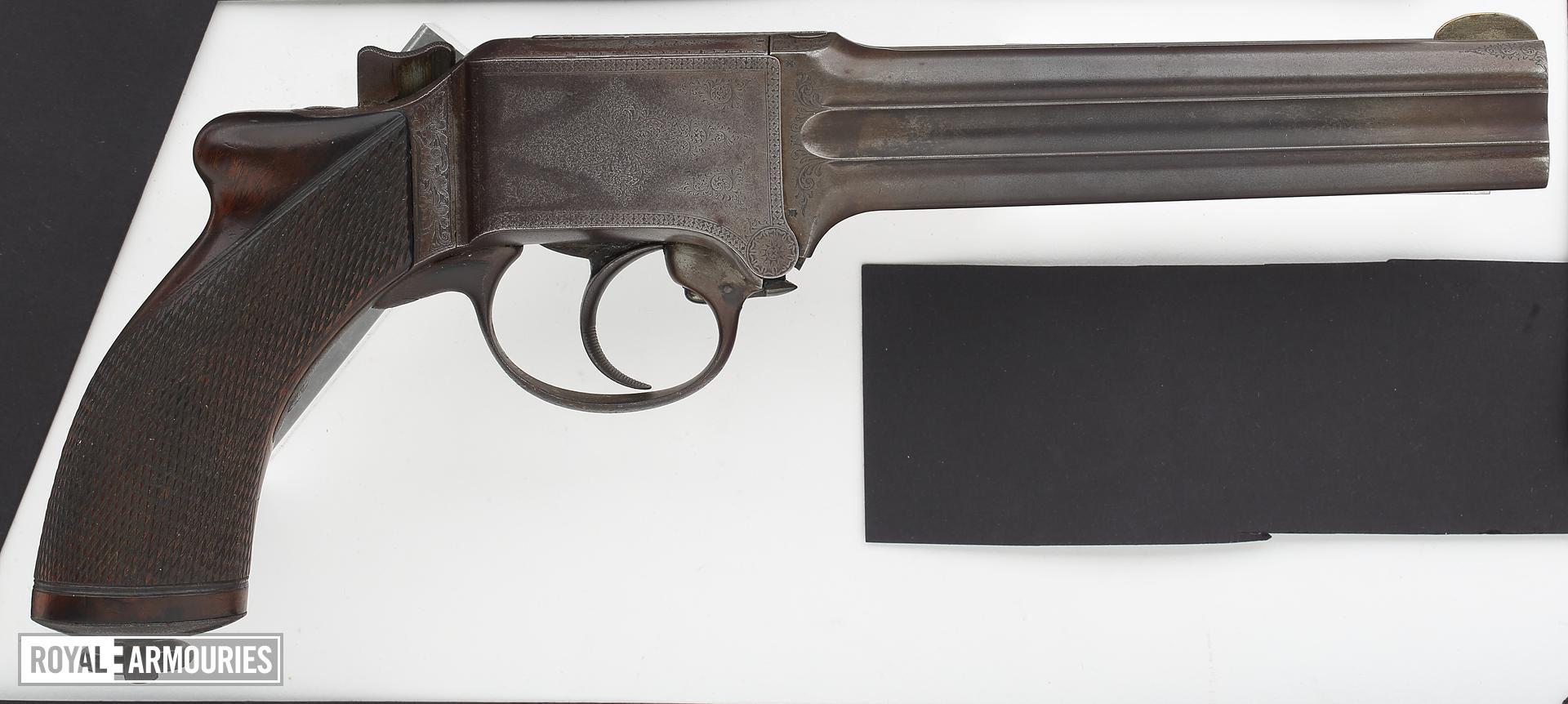 Centrefire four-barrelled pistol - Martin-Marres-Braendlin Mitrailleuse