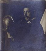 "Thumbnail image of Photograph of Seargeant-Major Buckingham - foreman of the Armouries - located within the foreward of ""Inventory and Survey of the Armouries of the Tower of London Vol I."" 1916."