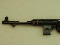 Thumbnail image of Centrefire automatic submachine gun - MP38 By Erma; Fitted with safety cocking handle.  Sectioned barrel.