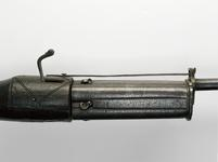 Thumbnail image of Matchlock revolver gun with rounded butt
