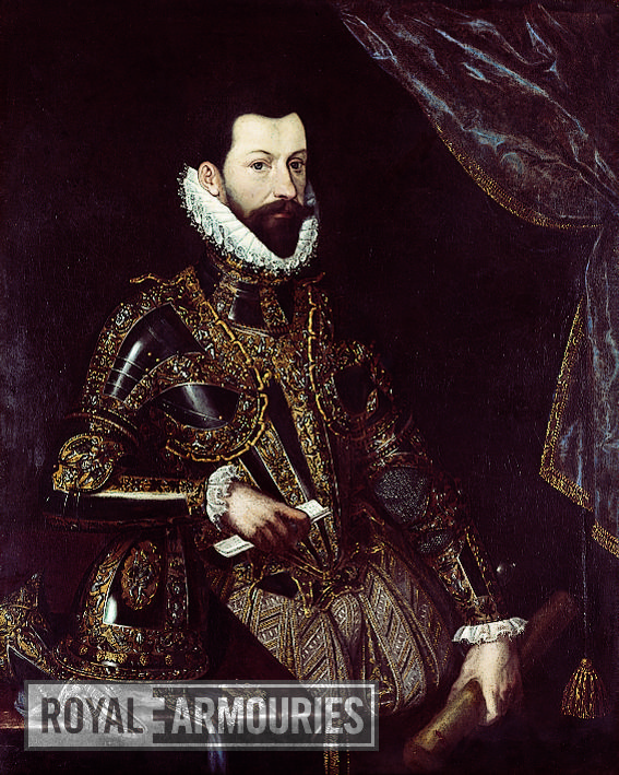 Painting Portrait of Alessandro Farnese, Duke of Parma, in armour.