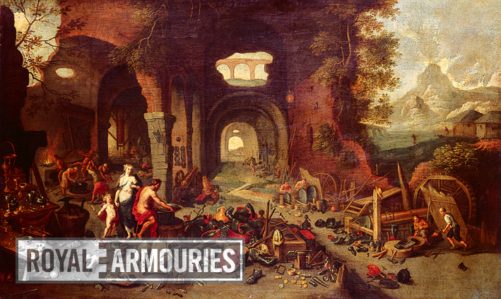 Painting - Venus at the forge of Vulcan