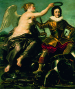Thumbnail image of Painting - Louis XIII of France Young Louis XIII crowned by Victory