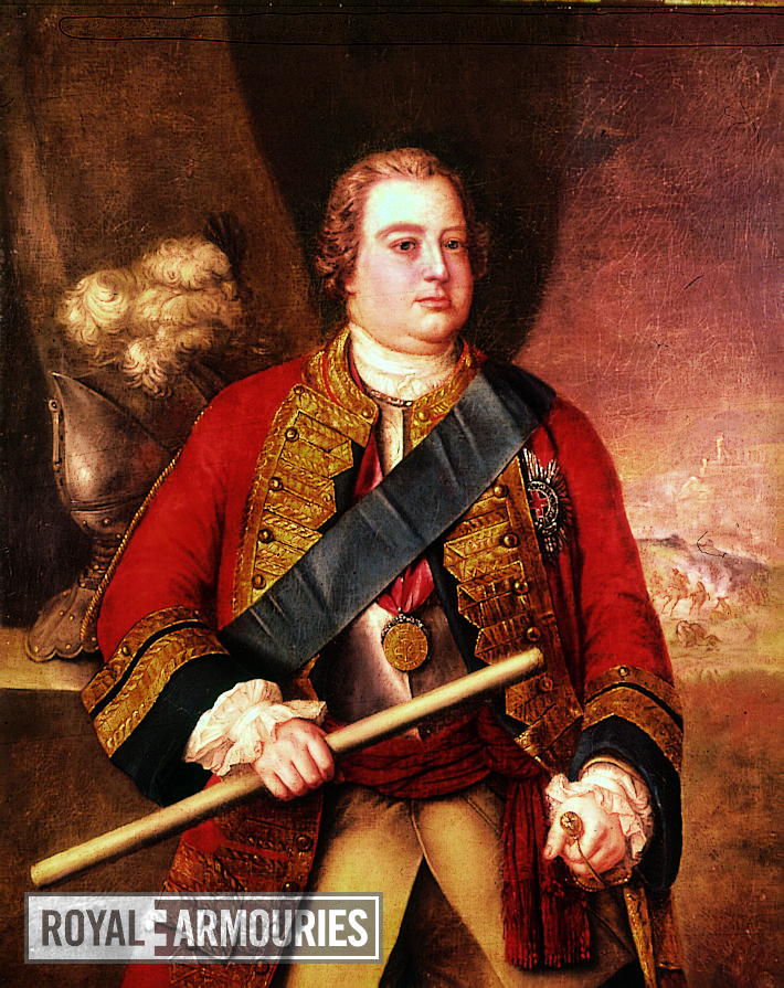 Painting Portrait of the Duke of Cumberland, unsigned.