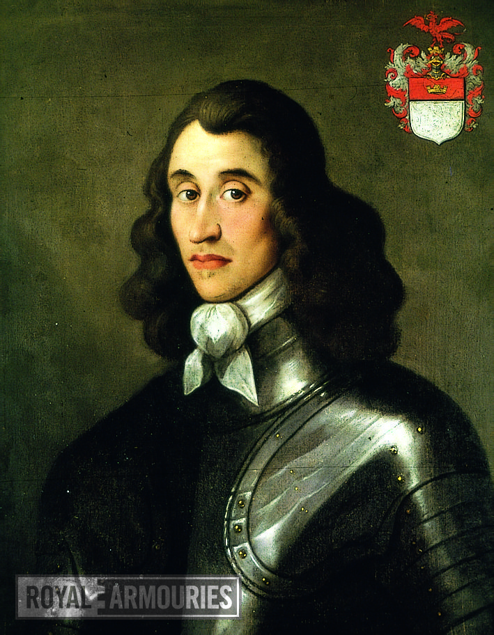 Painting Portrait of Major General Charles Worsley, 1622-1656. Oil on canvas
