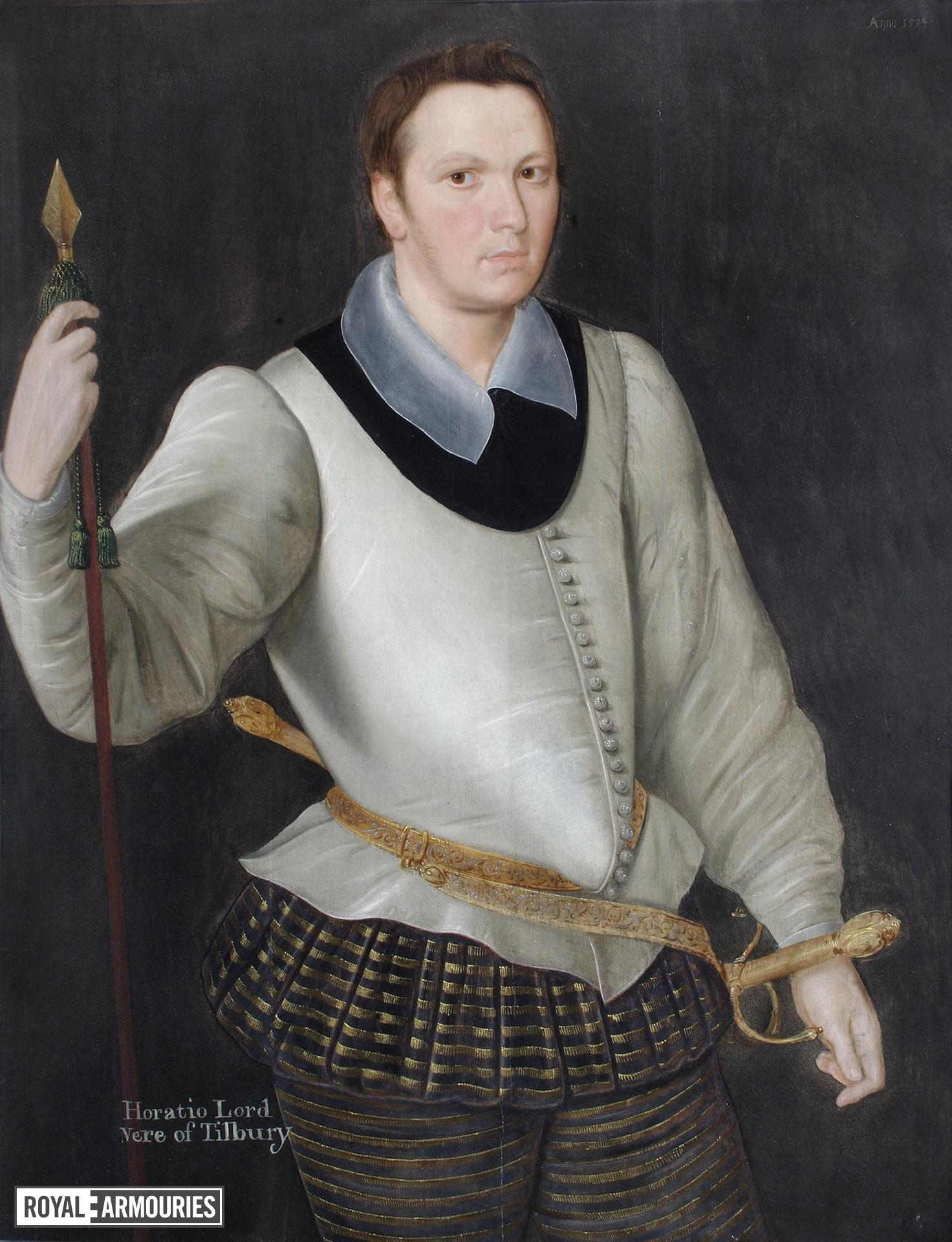 Portrait of Horace, Lord Vere of Tilbury, attributed to George Gower (I.104)