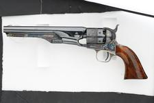 Thumbnail image of Percussion six-shot revolver - Colt Navy Model 1861 Presentation model to Mark Firth. Part of a cased set.
