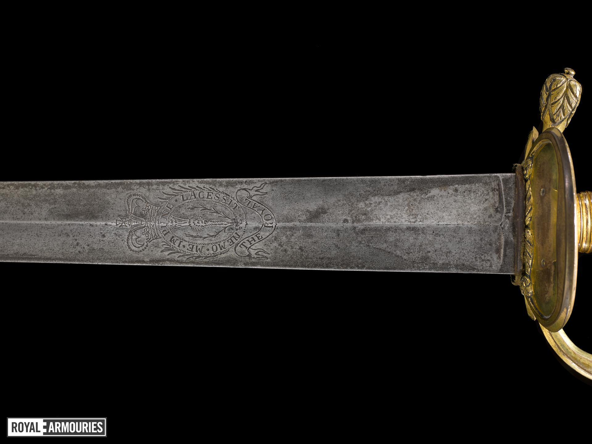 Sword, scabbard and sword-knot, Infantry Officer's sword, Pattern 1796, about 1796, Britain (IX.2033 A-C)