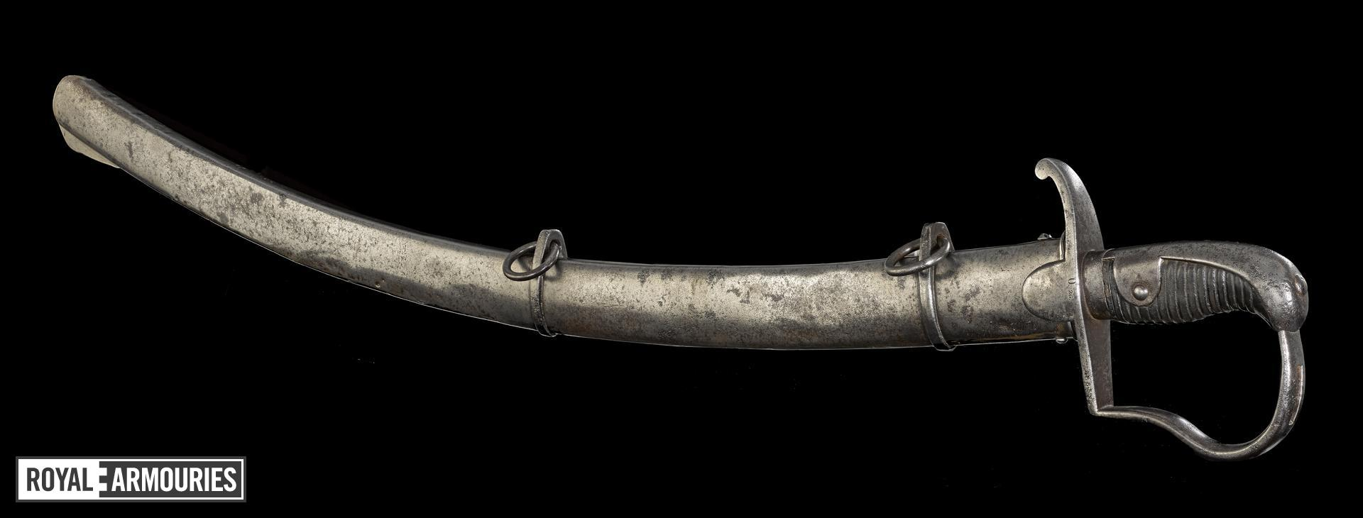 Light Cavalry sabre and scabbard, early19th century, probably Prussian (IX.5408)