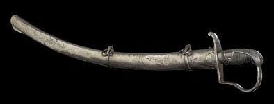Thumbnail image of Light Cavalry sabre and scabbard, early19th century, probably Prussian (IX.5408)