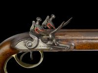 Thumbnail image of Flintlock muzzle-loading military pistol-carbine, Royal Horse Artillery Model, about 1793, Britain  (XII.843)
