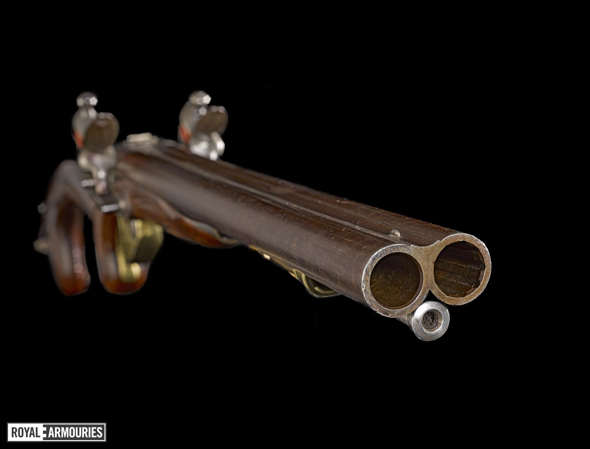Flintlock muzzle-loading military pistol-carbine, Royal Horse Artillery Model, about 1793, Britain  (XII.843)