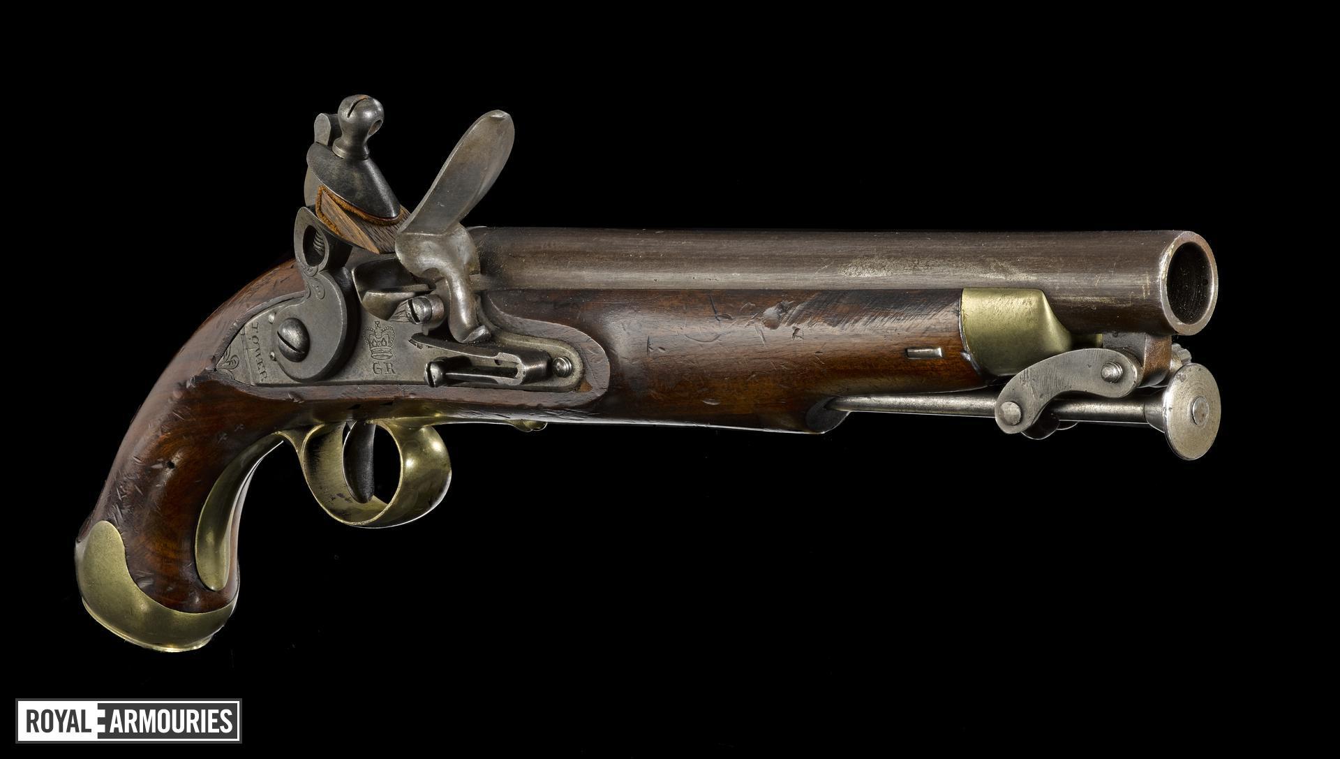 Flintlock muzzle-loading pistol - Paget Light Cavalry Model