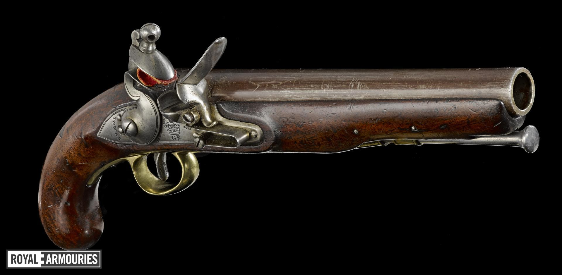Flintlock muzzle-loading military pistol - Pattern 1796 Heavy Cavalry Pistol