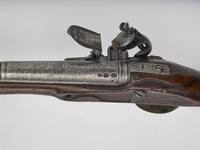 Thumbnail image of Flintlock holster pistol By Clarkson