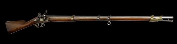 Thumbnail image of Flintlock muzzle-loading musket - Model 1777 An. IX Dragoon Musket Issued to the Dragoons, Voltigeurs,Artillery, Navy and the National Guard. Occassionally used by the Carabineers and Horse Grenadiers.