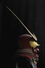 Thumbnail image of Armour (tosei gusoku) red lacquered. Japanese, Helmet Momoyama period (XXVIA.224)