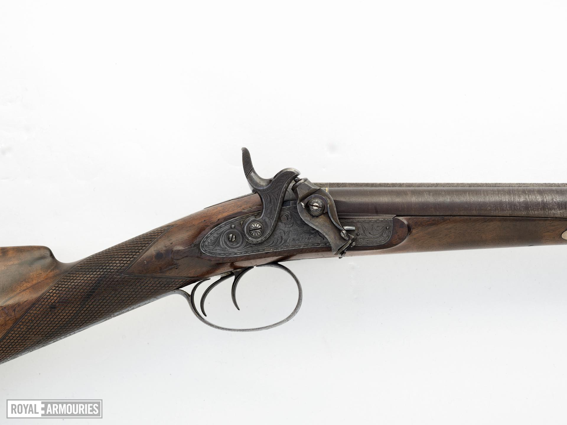 Percussion double-barrelled shotgun - By Smith
