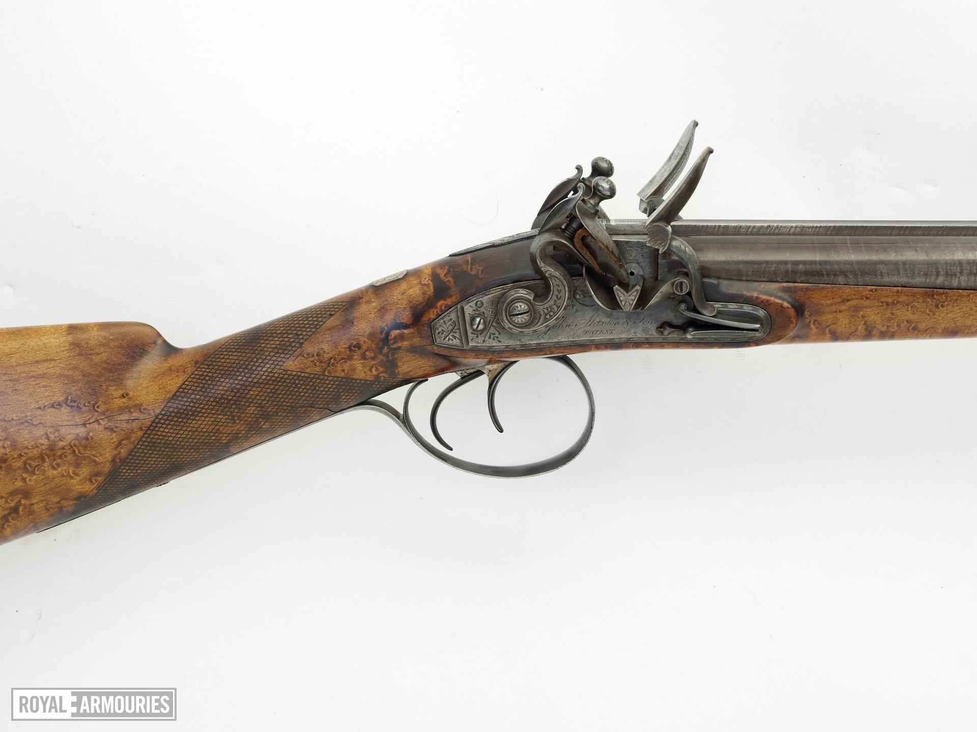 Flintlock gun - By Morris Manton locks