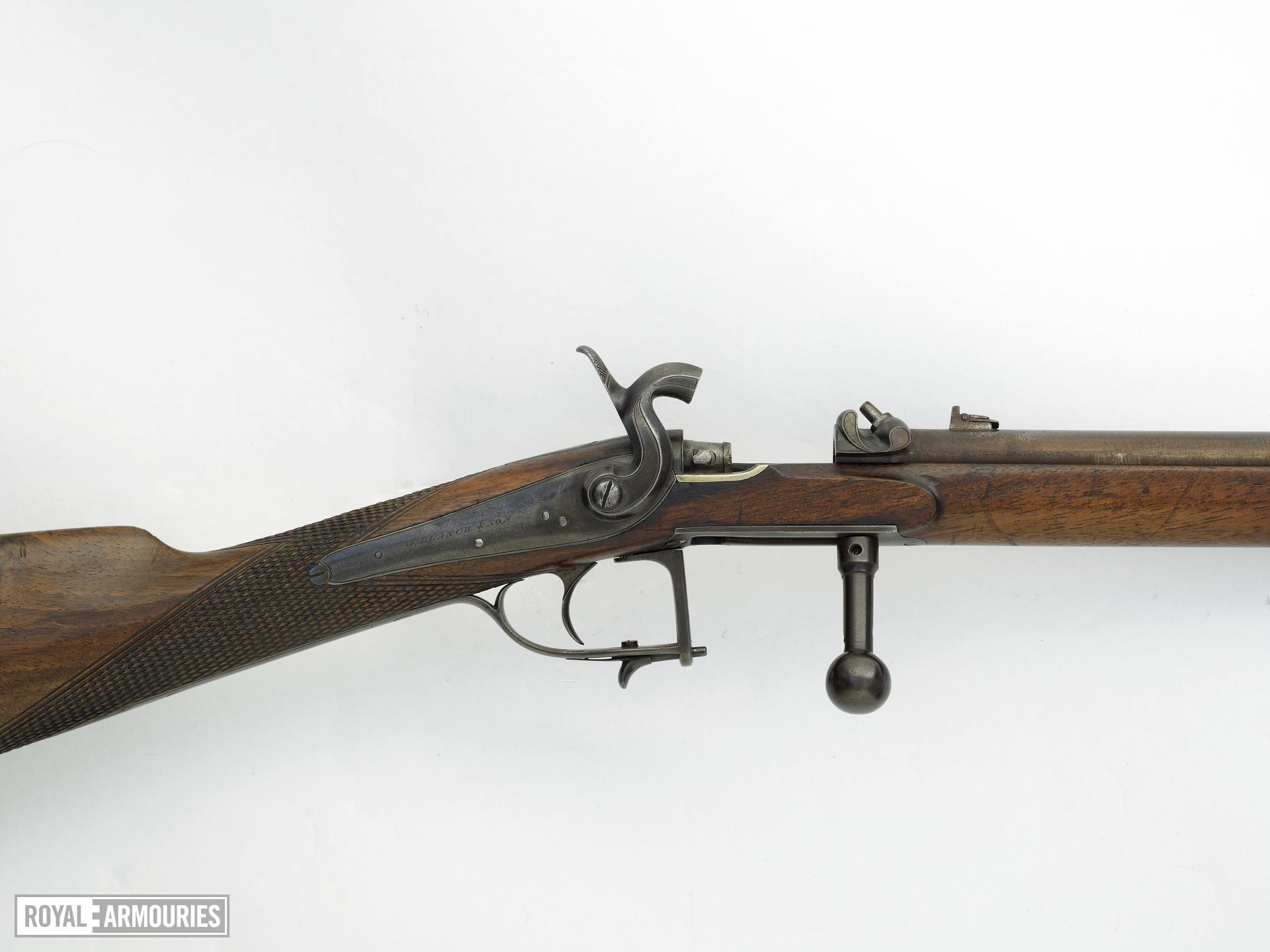 Percussion breech-loading rifle - By J. Blanch and Son
