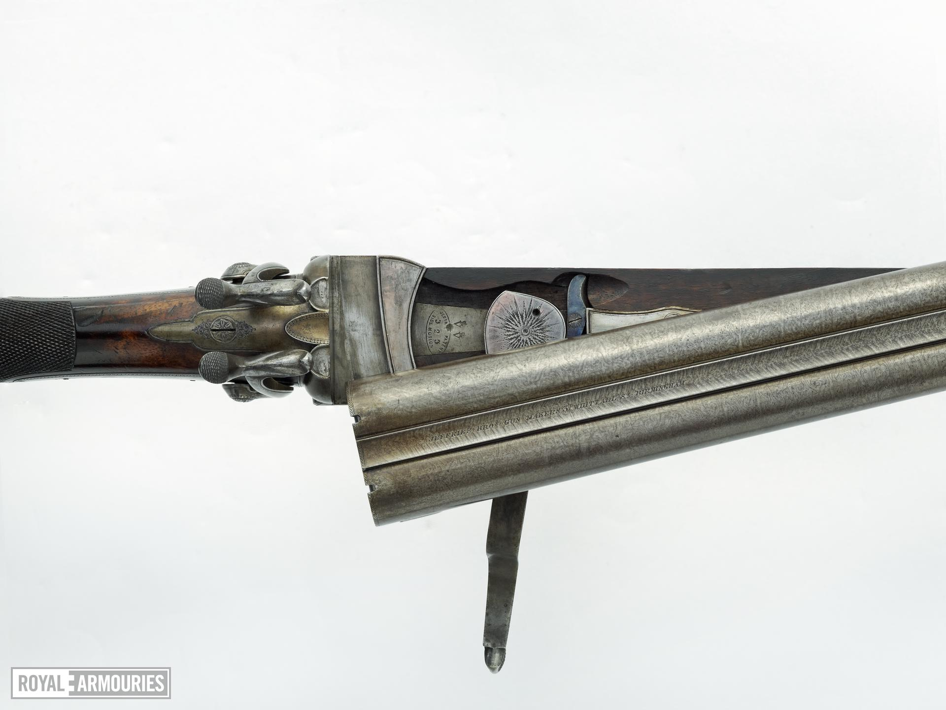 Pinfire breech-loading double-barrelled shotgun - By Jeffries