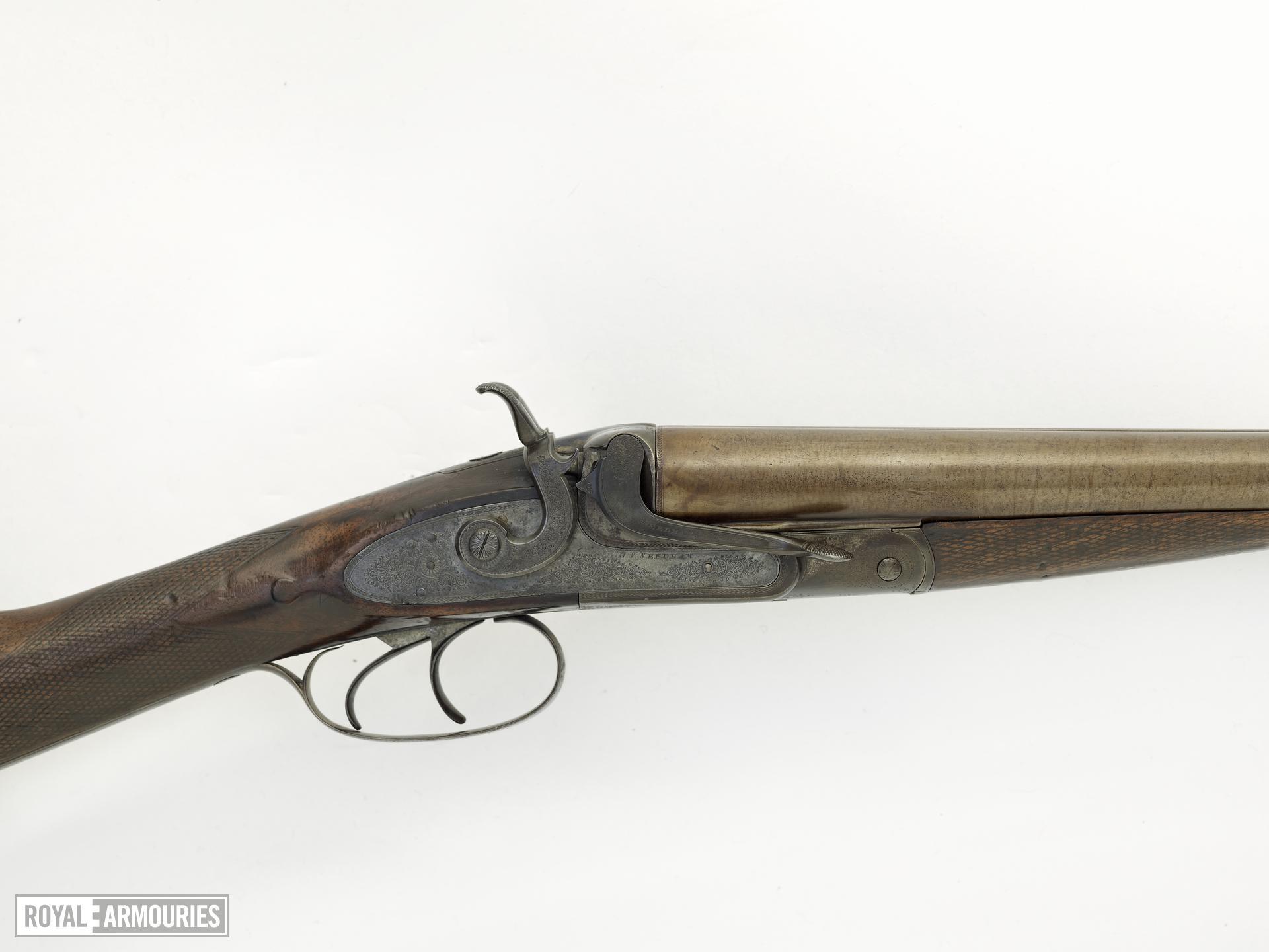 Centrefire breech-loading double-barrelled shotgun - By J. V. Needham