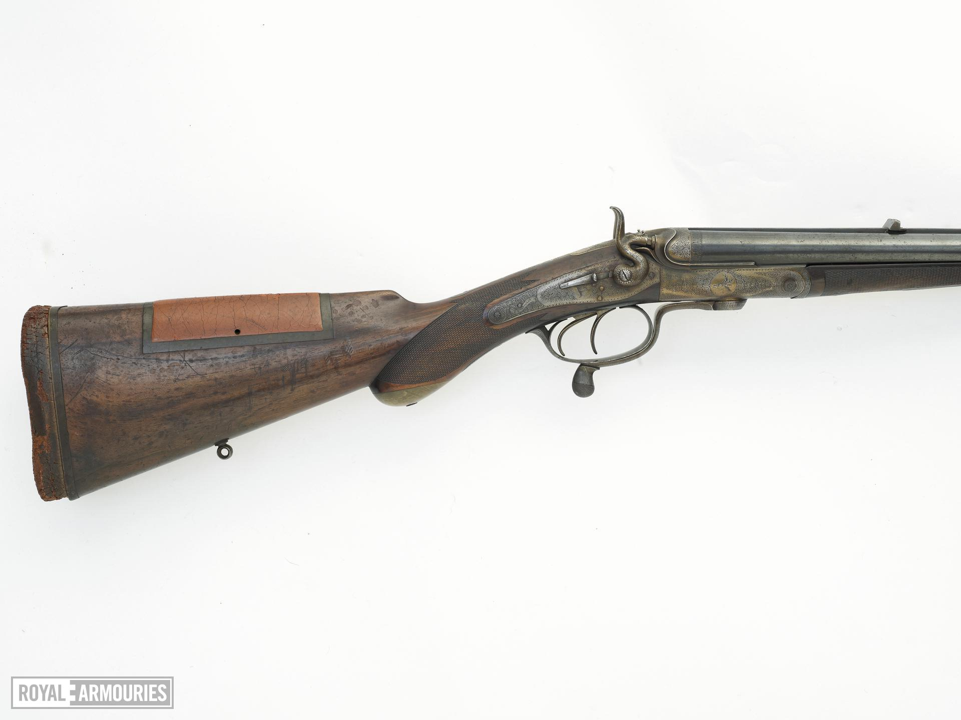 Centrefire breech-loading double-barrelled rifle - By J. and W. Tolley