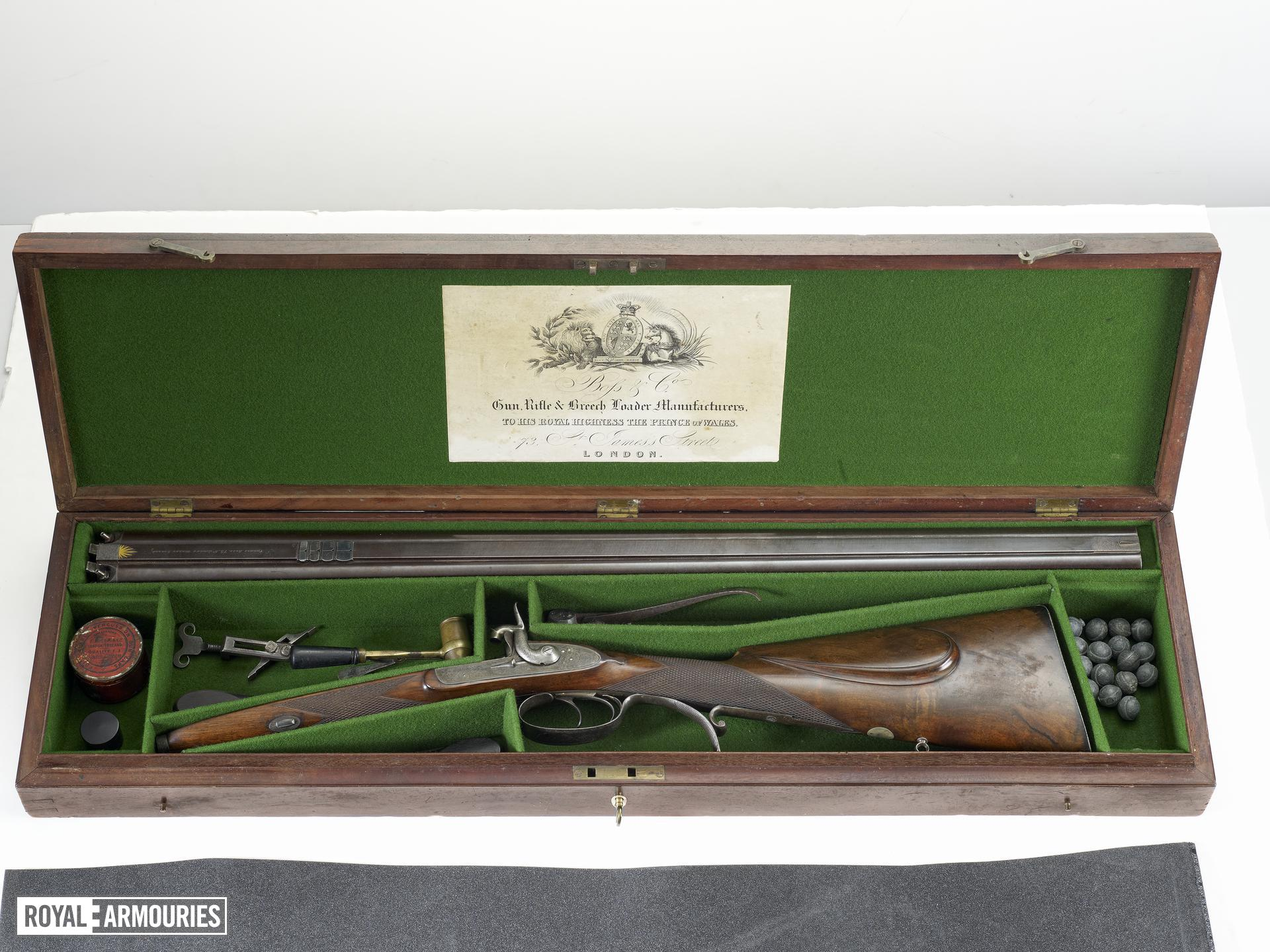 Percussion double-barrelled rifle - By Thomas Boss