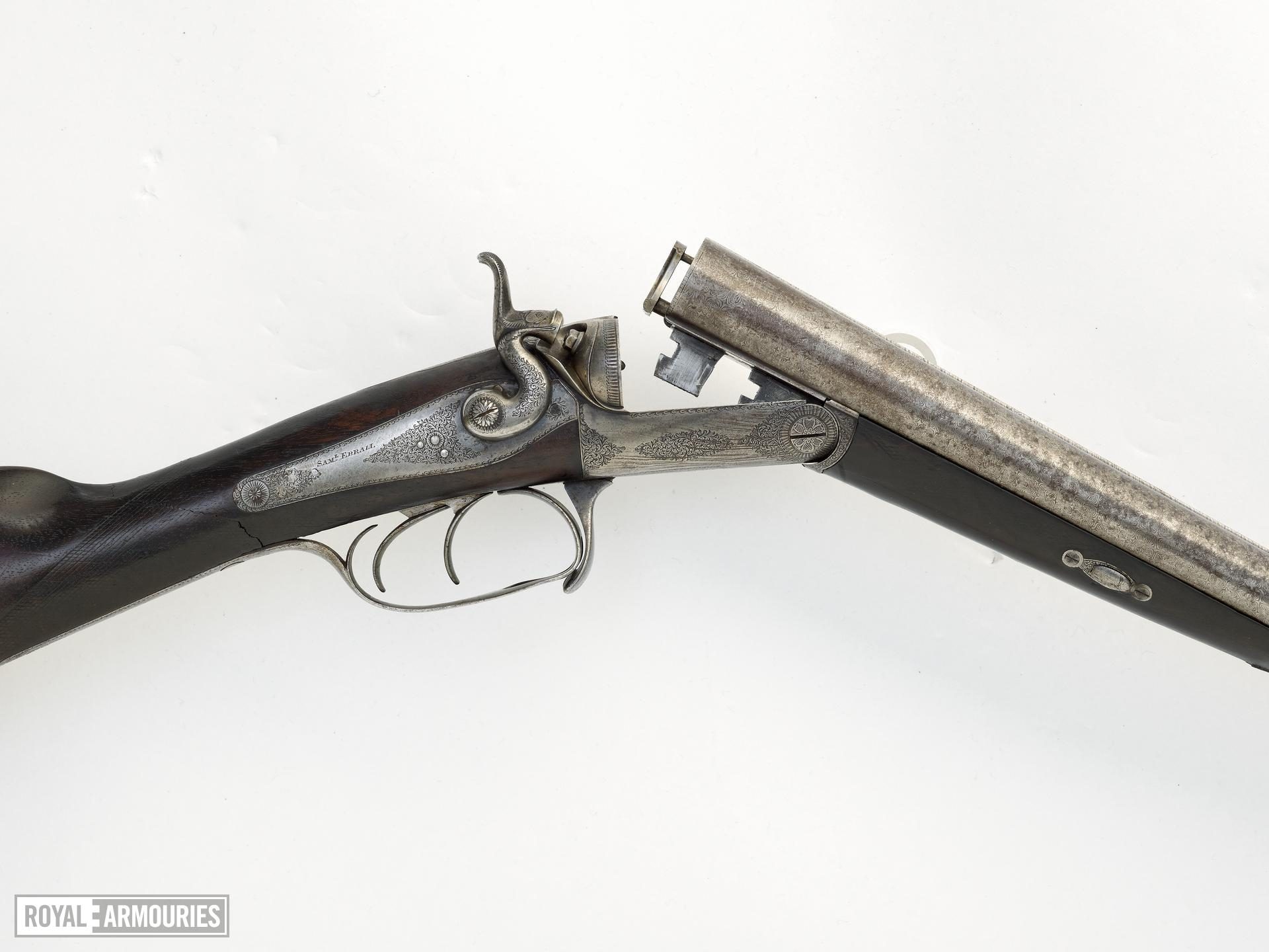 Centrefire breech-loading double-barrelled shotgun - By Samual Ebbal (1845-1865)
