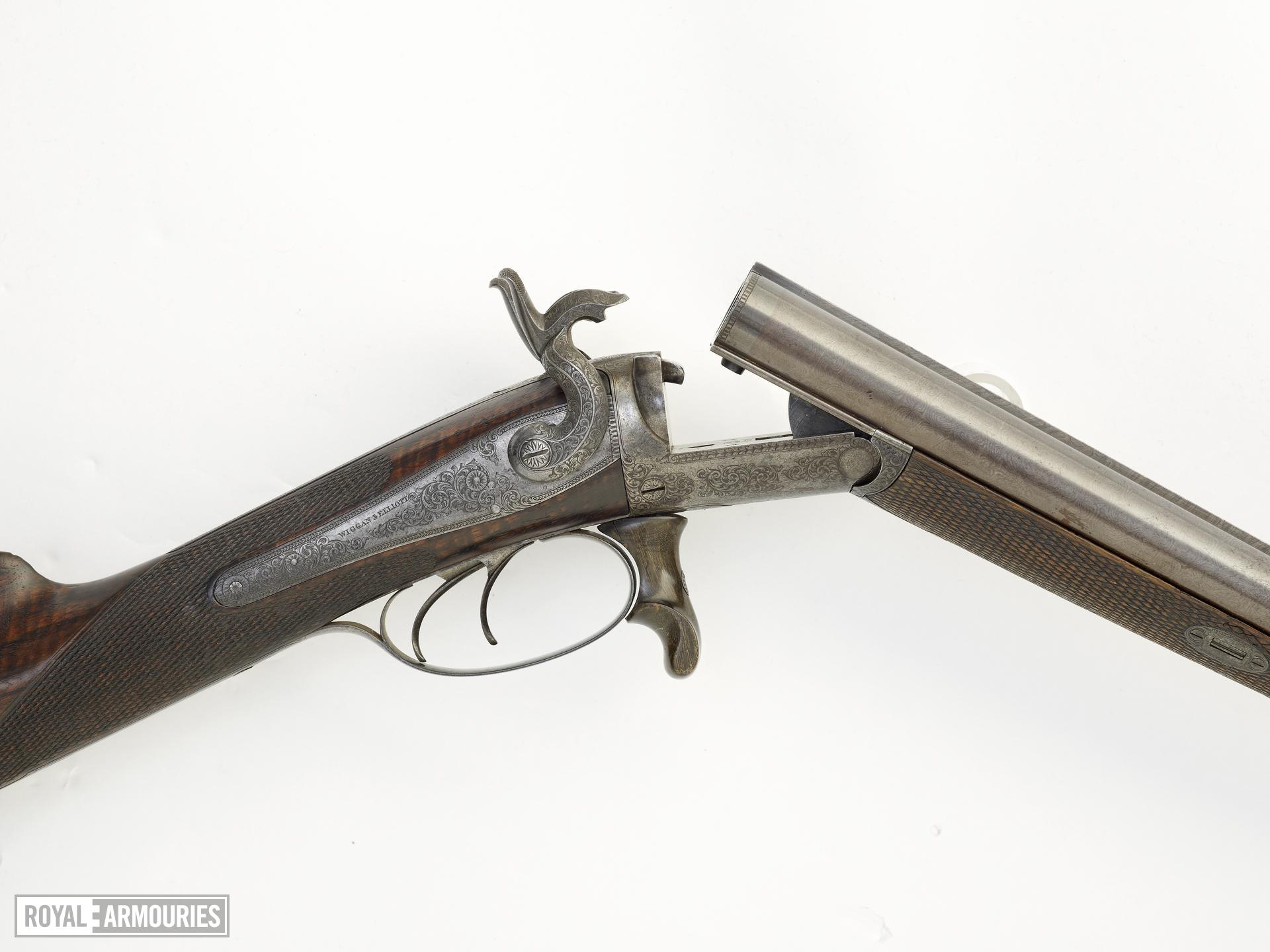 Pinfire breech-loading double-barrelled shotgun - By Wiggan and Elliot