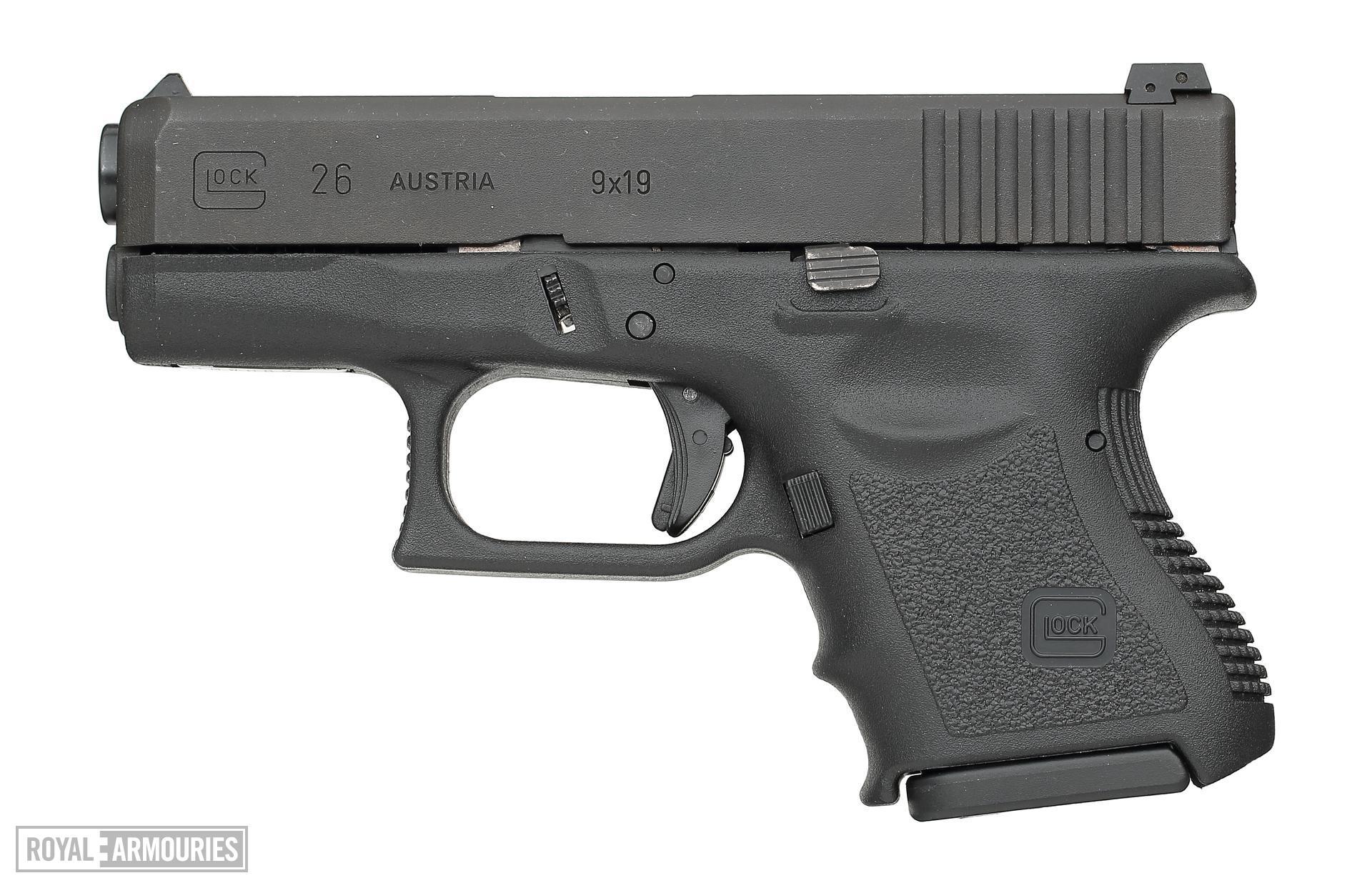 Centrefire self-loading pistol - Glock 26 Generation 3 Standard Generation 3 pattern sub-compact pistol.