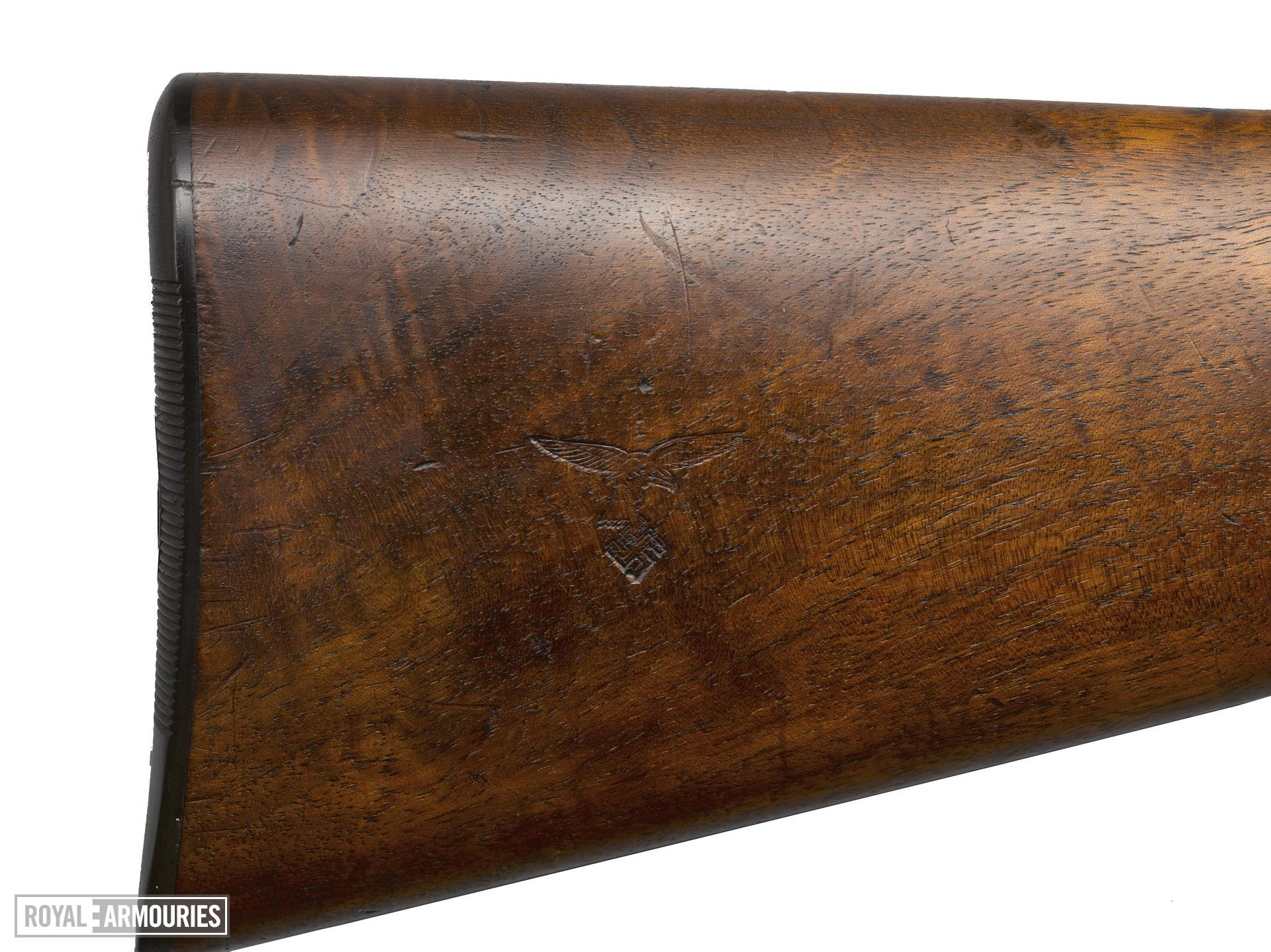 Centrefire breech-loading triple-barrelled combination rifle and shotgun - Drilling, Sauer M30 Luftwaffe issue survival drilling