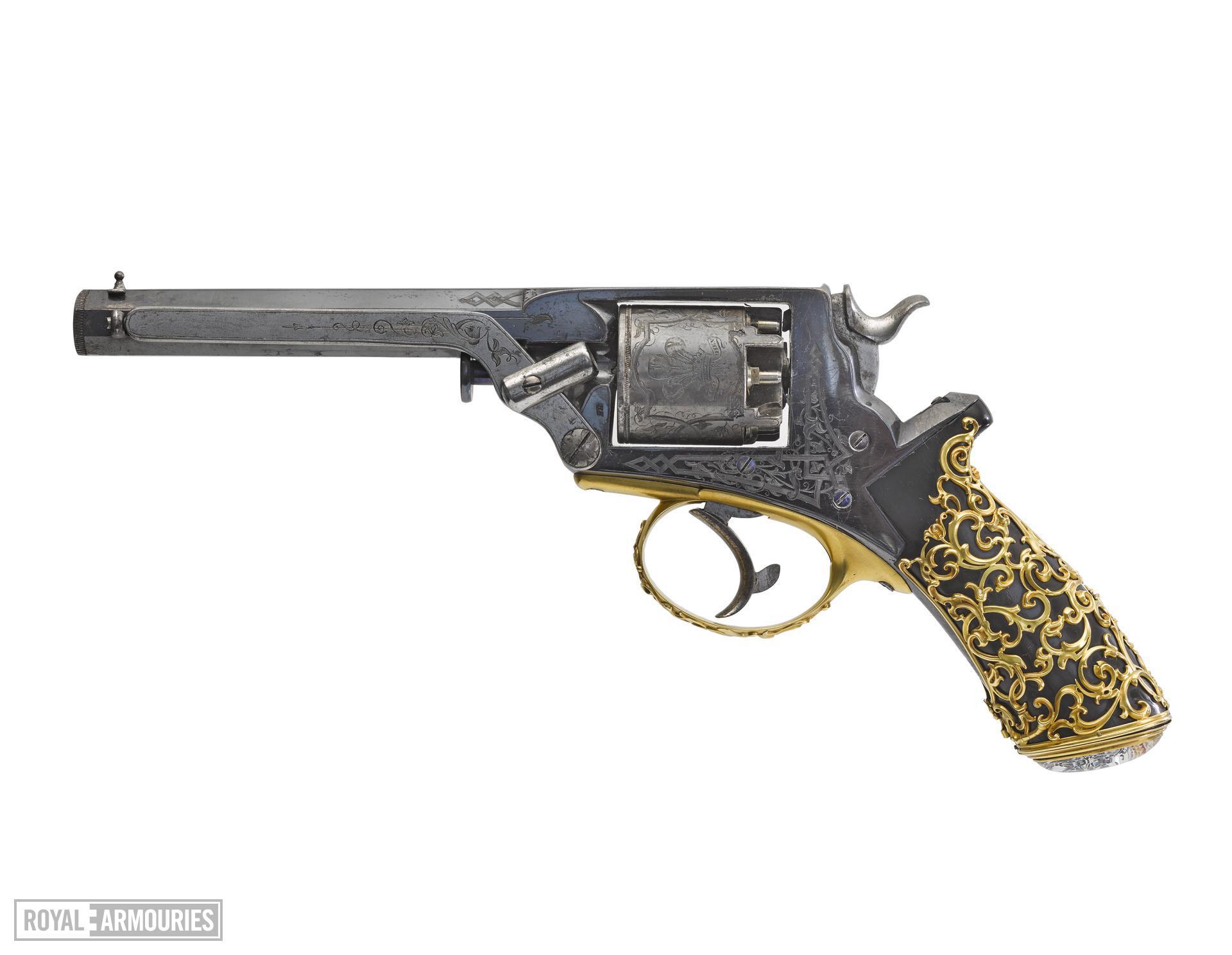 Percussion five-shot revolver - Tranter