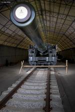 Thumbnail image of 18 inch breech loading railway howitzer - on loan from the Royal Artillery Historical Trust, 1918, Britain (AL.387) © Jonty Wilde / By kind permission of the Royal Artillery Historical Trust