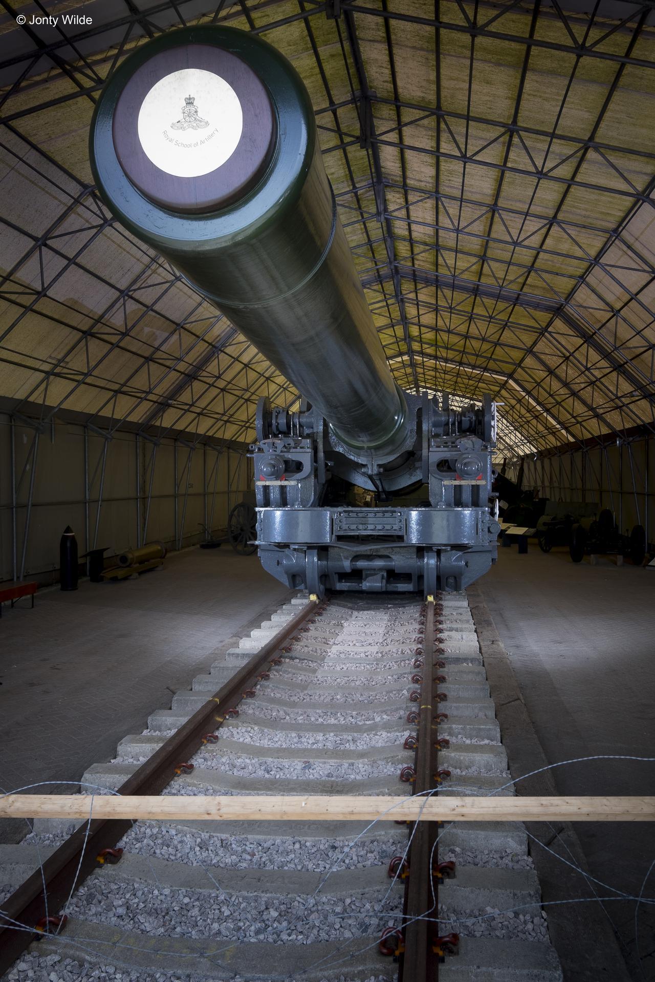 Gun - Ordnance, Breech-Loading, 18-inch Howitzer, Mark I on Railway Proof Sleigh Mark I