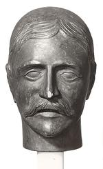 Thumbnail image of Carved wooden head of Lord Kitchener. British, early 20th century (XVIII.50)