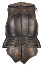 Thumbnail image of Hero armour of Necromonger Lord Marshal played by Colm Feore from the 2004 cult movie 'The Chronicles of Riddick' starring Vin Diesel. Ornately decorated and highly detailed. Bronze and black in appearance but made from hard rubber urethane and aluminium. 2003 (II.409)