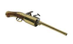 Thumbnail image of Snaphaunce six-shot revolver possibly by John Daft.