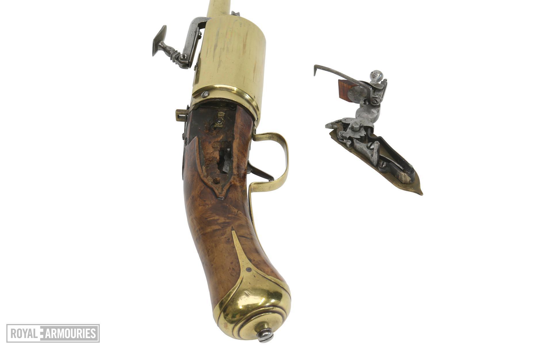 Snaphaunce six-shot revolver possibly by John Daft.